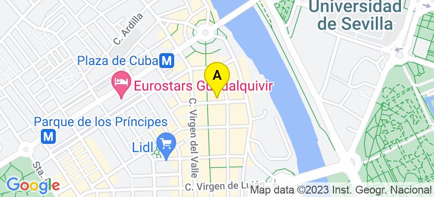 situacion en el mapa de . Direccion: C/ Virgen de Regla 6, 41011 Sevilla. Sevilla