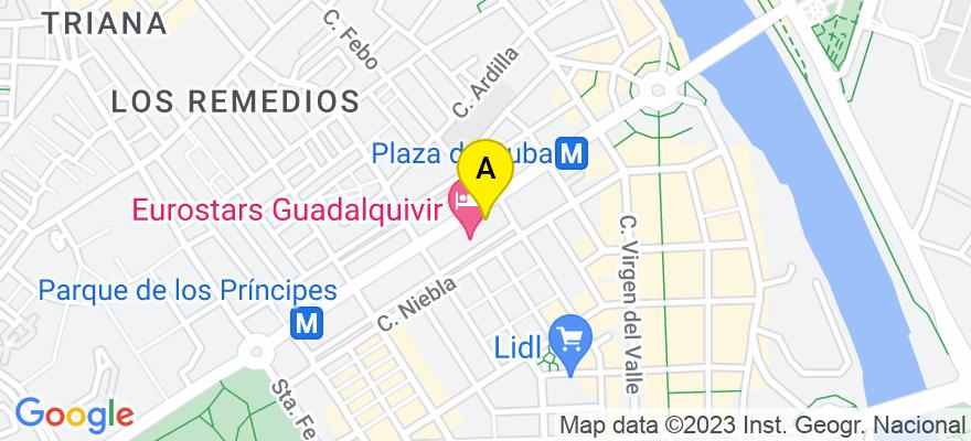 situacion en el mapa de . Direccion: Avda. República Argentina, 21B, 8º B, 41011 Sevilla. Sevilla
