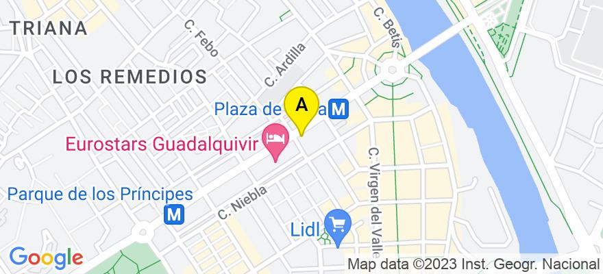 situacion en el mapa de . Direccion: Avda. República Argentina 19-C 1º C, 41011 Sevilla. Sevilla