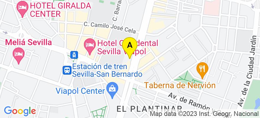 situacion en el mapa de . Direccion: AVDA SAN FRANCISCO JAVIER, 22 EDF HERMES, 1 - 13, 41018 Sevilla. Sevilla