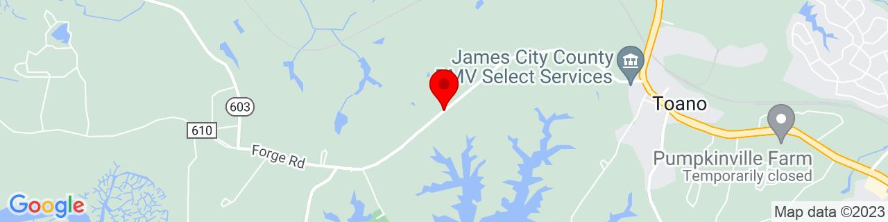 Google Map of 37.3790233, -76.8308409