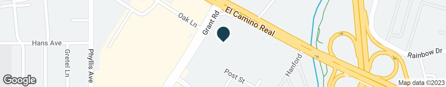 Google Map of121 E EL CAMINO REAL
