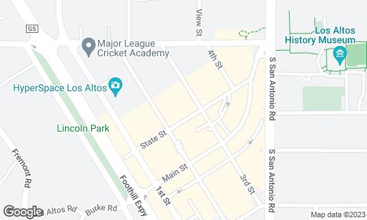 Map of Asa at 242 State St Los Altos, CA