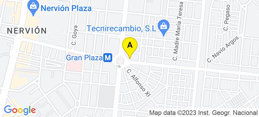 situacion en el mapa de . Direccion: Gran Plaza 10, 41005 Sevilla. Sevilla