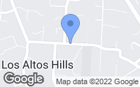 Map of Los Altos Hills, CA