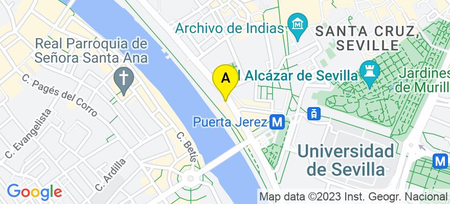 situacion en el mapa de . Direccion: Calle Virgen de Regla, 41011 Sevilla. Sevilla