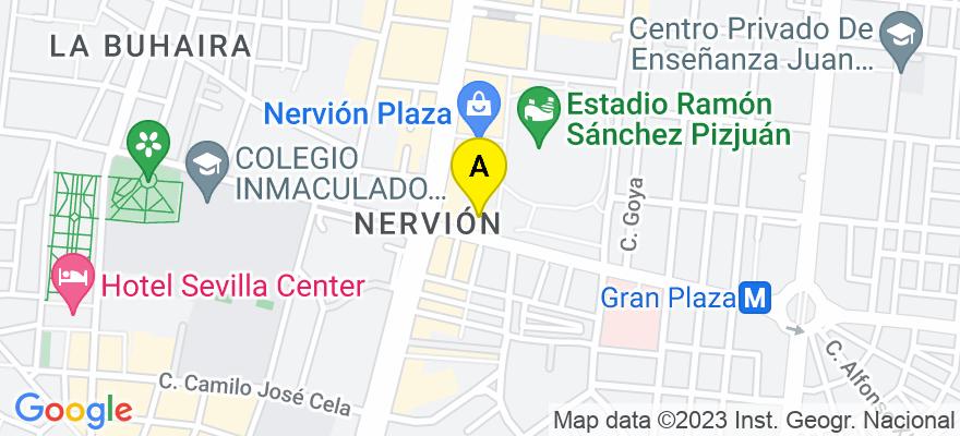 situacion en el mapa de . Direccion: Av. Eduardo Dato 69, 5ª planta., 41005 Sevilla. Sevilla