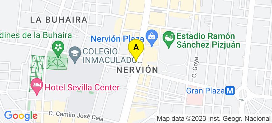 situacion en el mapa de . Direccion: Luis de Morales 32, 41018 Sevilla. Sevilla