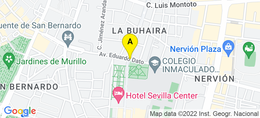 situacion en el mapa de . Direccion: av. buhaira, 41018 Sevilla. Sevilla