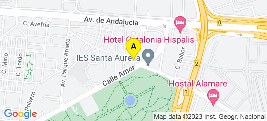 situacion en el mapa de . Direccion: C/Clementinas 11, 9º B, 41006 Sevilla. Sevilla