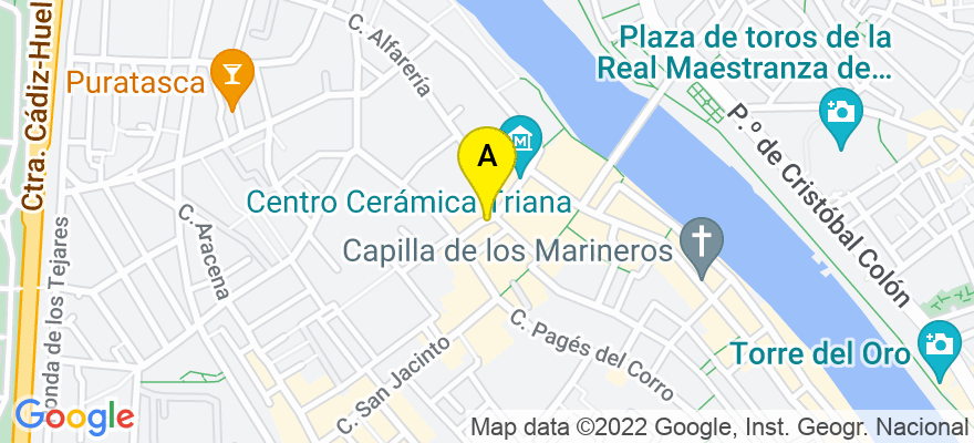 situacion en el mapa de . Direccion: C/Antillano Campos, 20, bajo, 41010 Sevilla. Sevilla