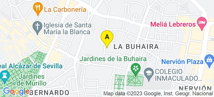 situacion en el mapa de . Direccion: Calle Jiménez Aranda 19, 41018 Sevilla. Sevilla