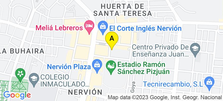 situacion en el mapa de . Direccion: calle benito mas y prat, nº5, 1º- 7, 41005 Sevilla. Sevilla