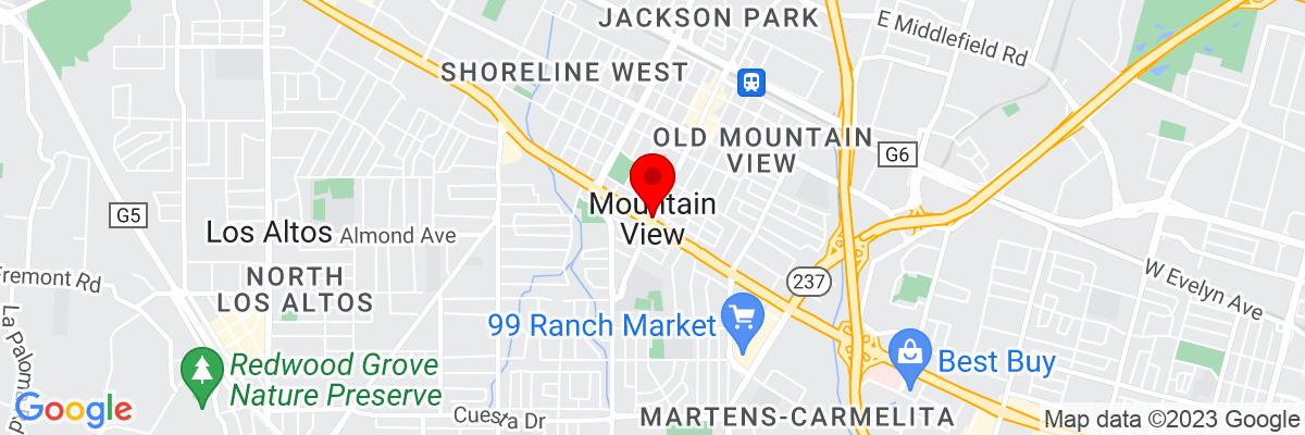 Google Map of 37.386051666667,-122.08385111111