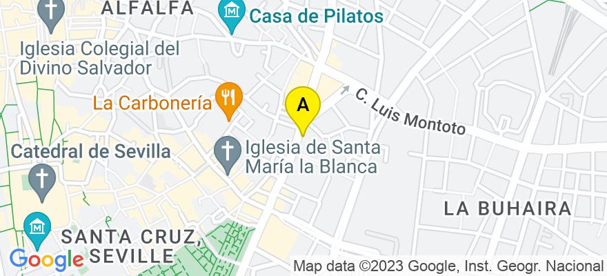 situacion en el mapa de . Direccion: Menendez y Pelayo Nº 52, 2º-A, 41003 Sevilla. Sevilla