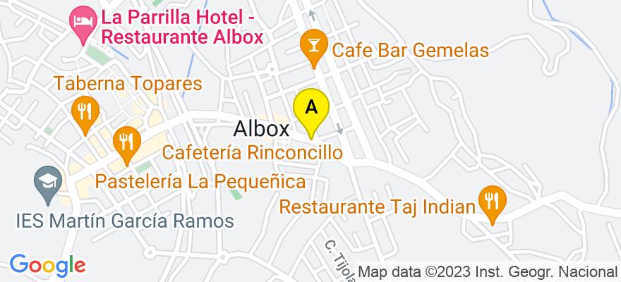 situacion en el mapa de . Direccion: Plaza San Francisco, 10, 04800 Albox. Almería