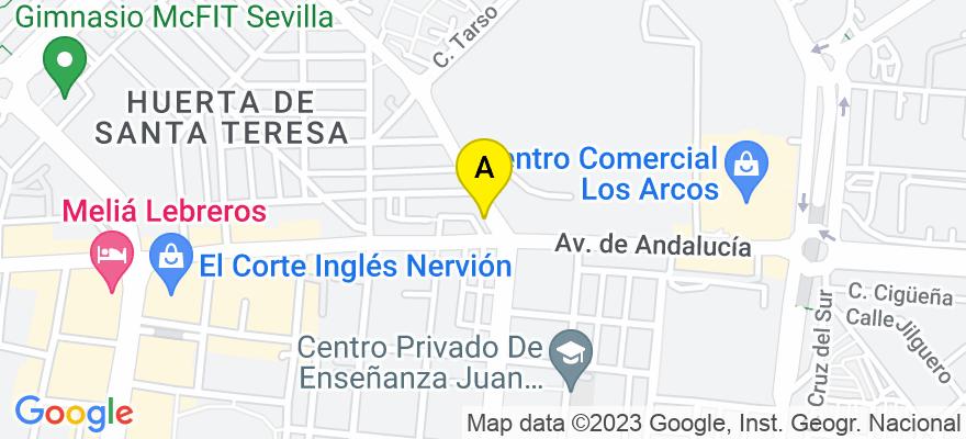 situacion en el mapa de . Direccion: Avda. de El Greco Nº 52, 41007 Sevilla. Sevilla