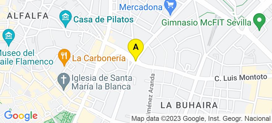 situacion en el mapa de . Direccion: Avenida San Francisco Javier,9 Planta 2ª Modulo 2, 41018 Sevilla. Sevilla