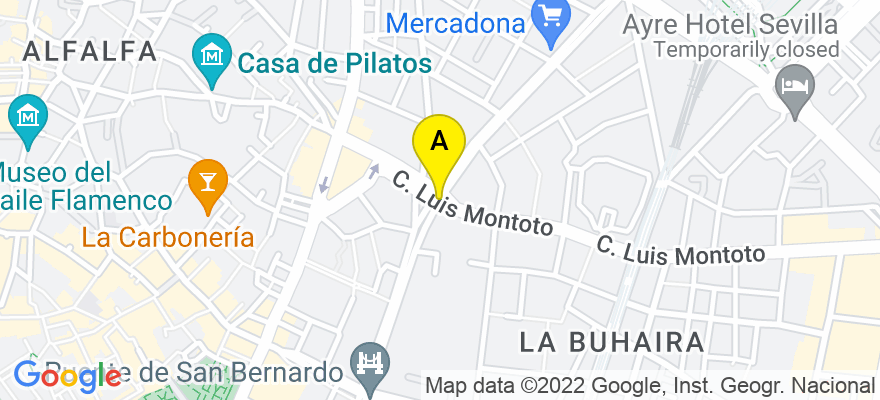 situacion en el mapa de . Direccion: Avda. San Francisco Javier nº 9, Edif.. Sevilla-2, planta 8ª, nº 11., 41018 Sevilla. Sevilla