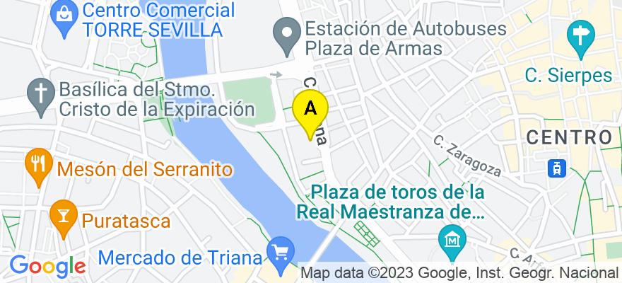 situacion en el mapa de . Direccion: Arjona 10 esc 6, 41001 Sevilla. Sevilla