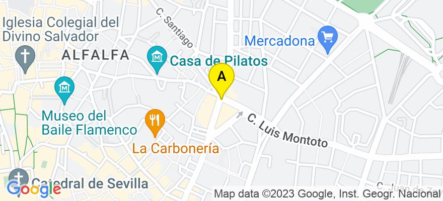 situacion en el mapa de . Direccion: AV LUIS MONTOTO Nº88 9ºC, 41018 Sevilla. Sevilla