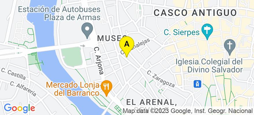 situacion en el mapa de . Direccion: C/ Julio Cesar, 12 2º Puerta 1, 41001 Sevilla. Sevilla