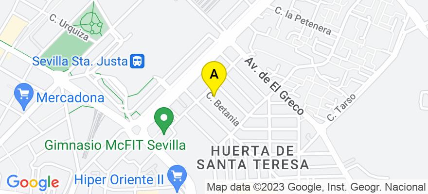 situacion en el mapa de . Direccion: Calle Betania 5-2a, 41007 Sevilla. Sevilla