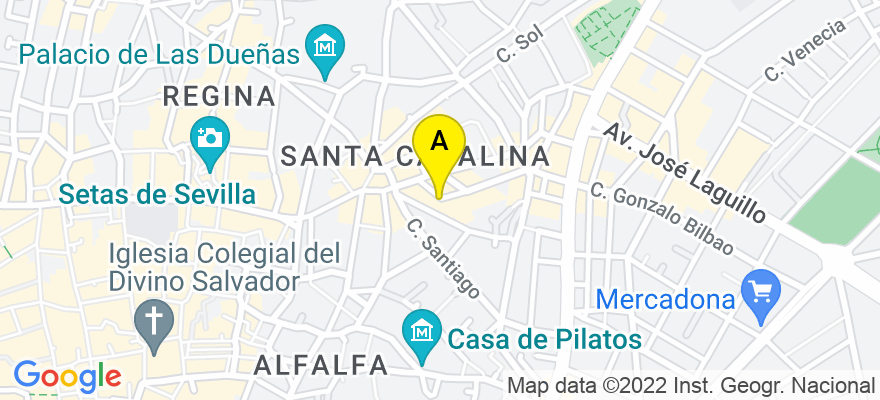 situacion en el mapa de . Direccion: Plaza Padre Jerónimo de Cordoba número 13 quinto b, 41003 Sevilla. Sevilla