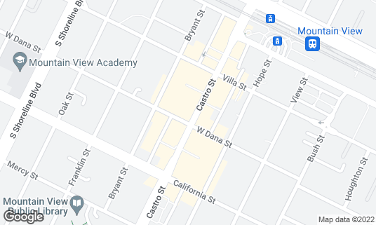 Map of Park Balluchi at 288 Castro St Mountain View, CA