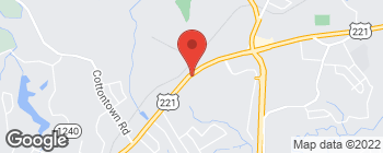 Map of 19423 Forest Rd in Lynchburg