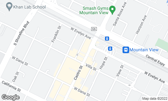 Map of Bushido at 156 Castro St Mountain View, CA