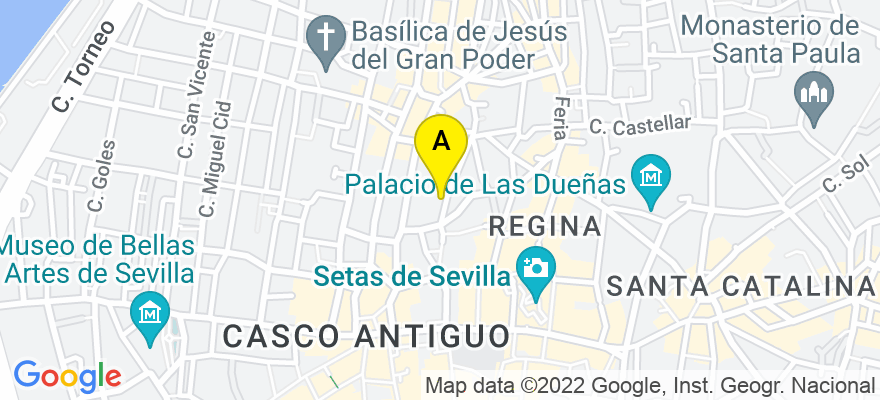 situacion en el mapa de . Direccion: Calle Cervantes 6 Bajos, 41003 Sevilla. Sevilla