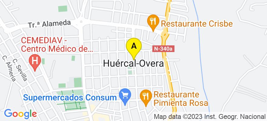 situacion en el mapa de . Direccion: Carretera Estación Nº 109, 04600 Huércal-Overa. Almería