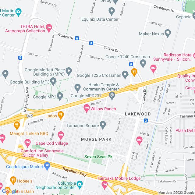 Map of Toll Road | SR-237 Mathilda EB