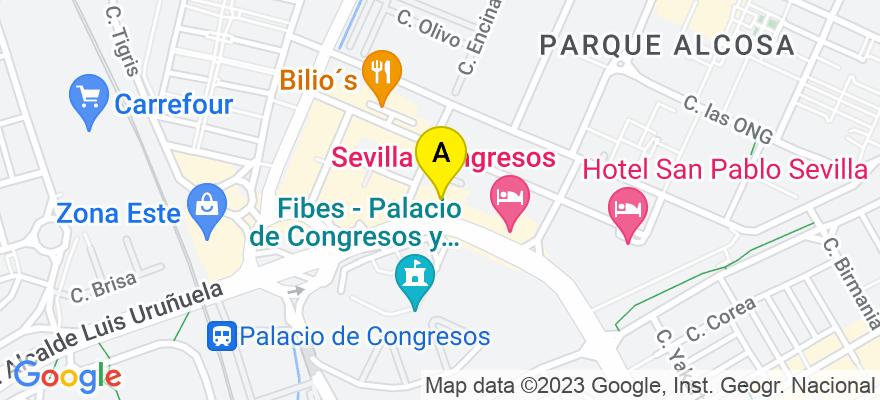 situacion en el mapa de . Direccion: Av. Alcalde Luis Uruñuela, 6, 41020 Sevilla. Sevilla