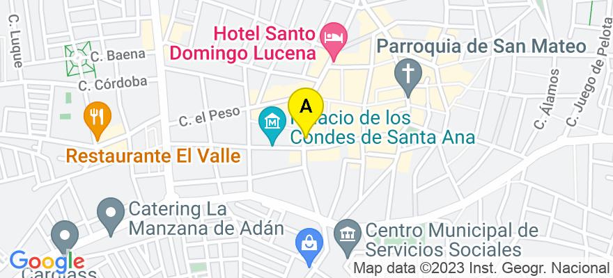 situacion en el mapa de . Direccion: El Agua nº 19 Bajo, 14900 Lucena. Córdoba