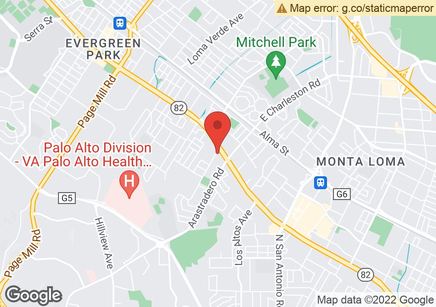 Google Map of 4170 EL CAMINO REAL