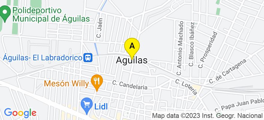 situacion en el mapa de . Direccion: C/ Carlos III, 24, 1ºB, 30880 Águilas. Murcia