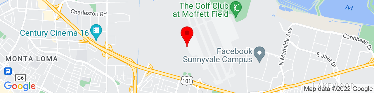 Google Map of 37.4129267433968, -122.0545014190185