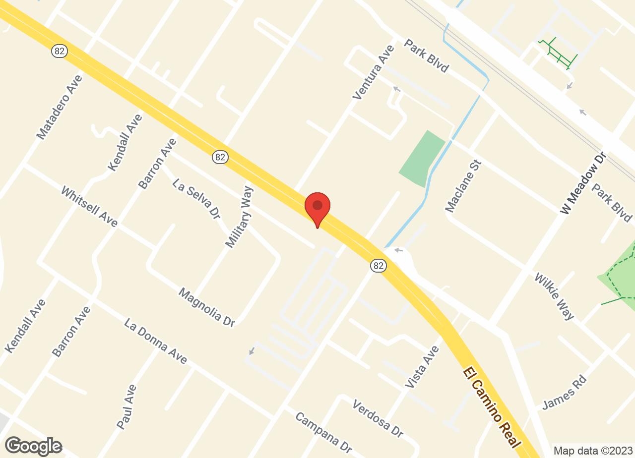 Google Map of VCA Palo Alto Animal Hospital