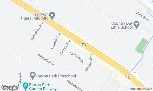Map of Celia's at 3740 El Camino Real Palo Alto, CA