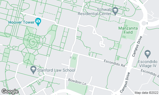Map of Arrillaga Family Dining Commons at 489 Arguello Way Stanford, CA