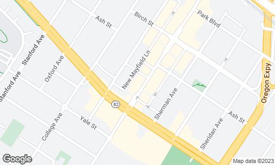 Map of Terùn Pizzeria at 448 S California Ave Palo Alto, CA