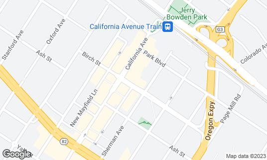 Map of Cafe Pro Bono at 2437 Birch St Palo Alto, CA