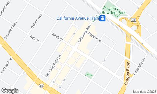 Map of Calave at 299 California Ave Palo Alto, CA