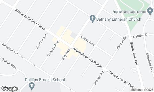 Map of Flea Street Cafe at 3607 Alameda de Las Pulgas Menlo Park, CA