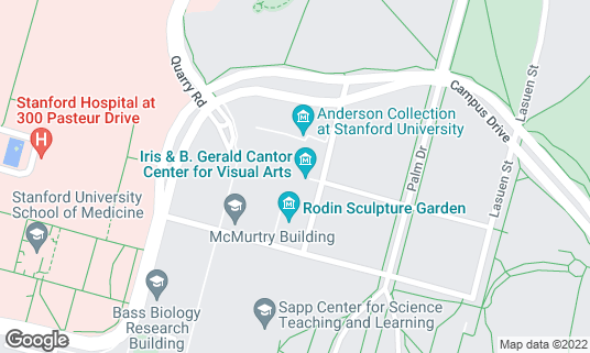 Map of Cantor Arts Center at 328 Lomita Dr Stanford, CA
