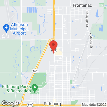 Map of Arby's at 2715 N. Broadway Avenue, Pittsburg, KS 66762