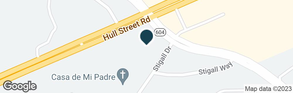 Google Map of11119 HULL STREET RD