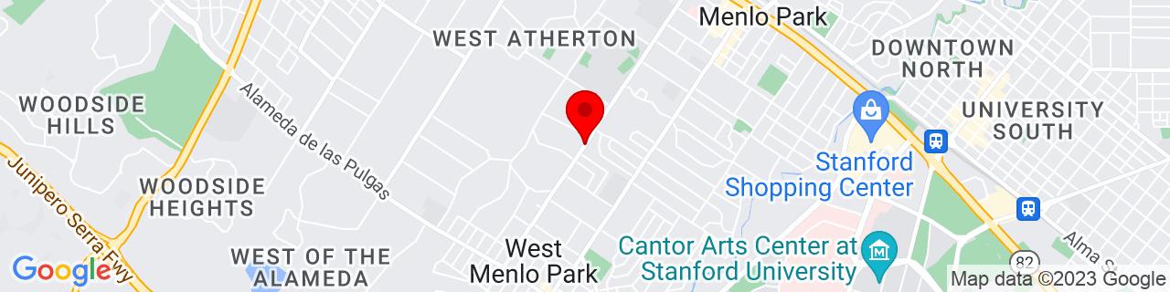 Google Map of 37.4431608, -122.198214
